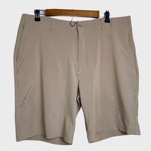 Ben Hogan Performance Flat Front Flex Khaki Shorts